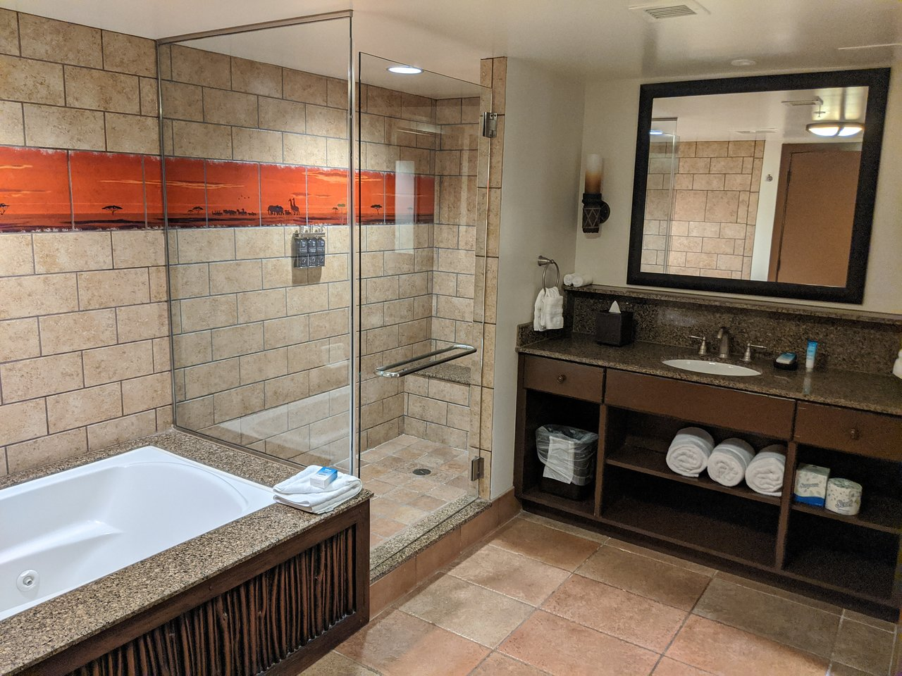 Disney's Animal Kingdom Lodge Villas Bathroom
