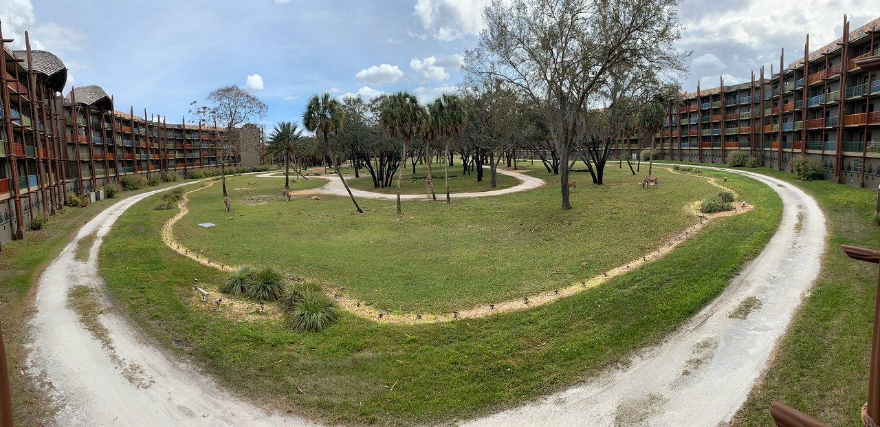 Disney's Animal Kingdom Lodge Villas Outside Panorama
