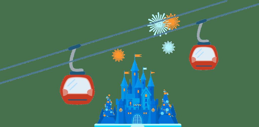 Skyliner gondola at Disney's Riviera Resort