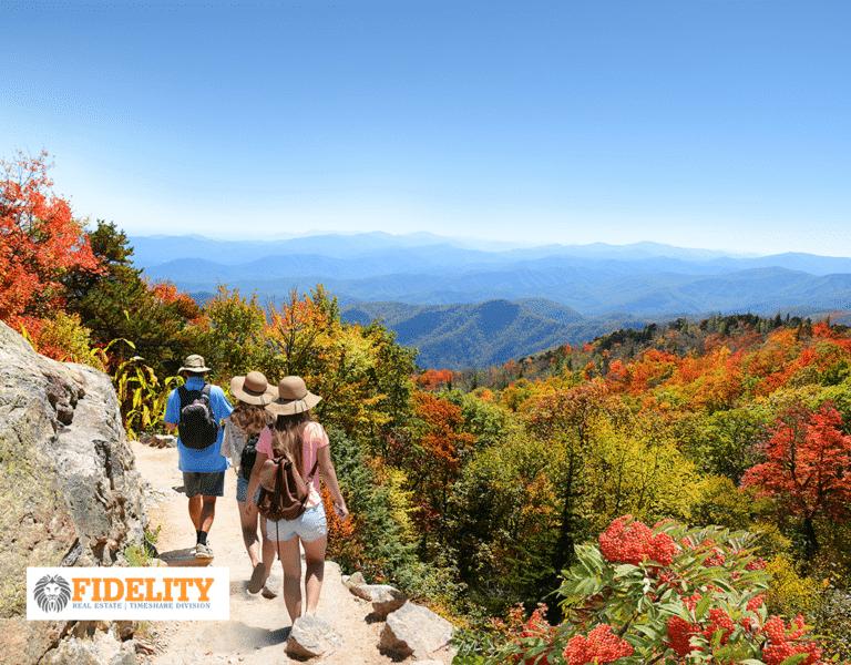 People Hiking in Fall