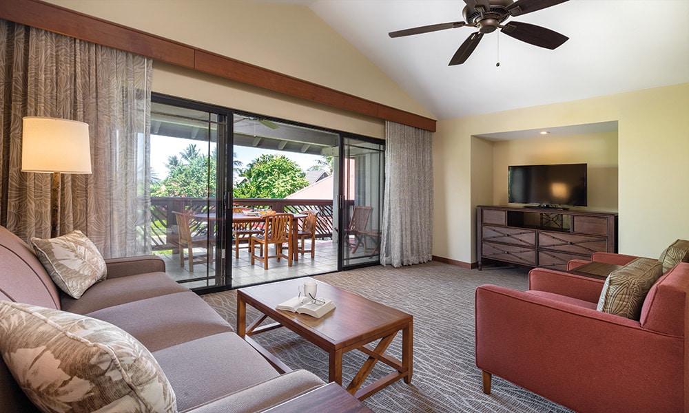 Club Wyndham Hawaii At Kona Hawaiian Resort 2 Bedroom Living