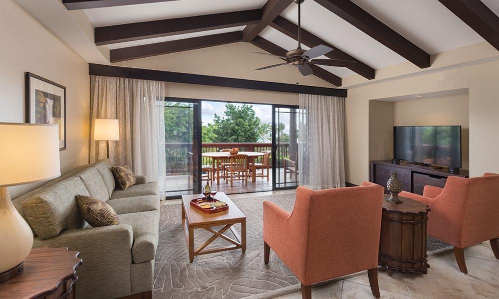 Club Wyndham Hawaii At Kona Hawaiian Resort 2 Bedroom Presidential Living Room