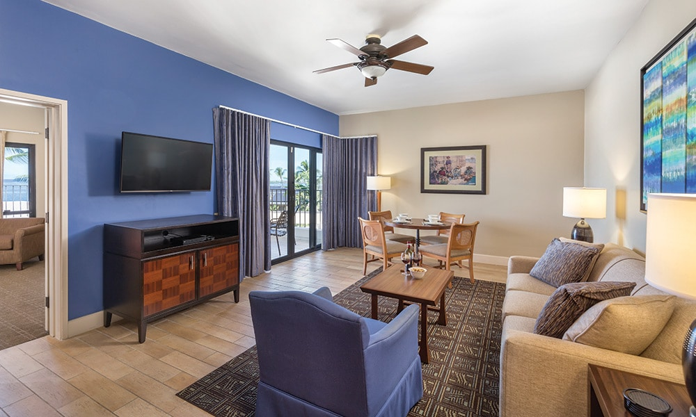 Club Wyndham Hawaii At Royal Sea Cliff 1 Bedroom Deluxe Living Area