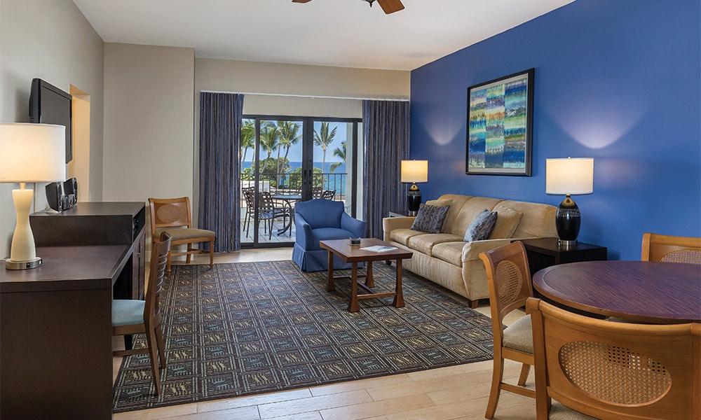 Club Wyndham Hawaii At Royal Sea Cliff 1 Bedroom Deluxe Living