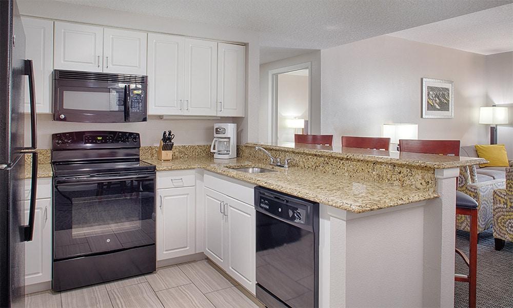 Club Wyndham Ocean Walk 1 Bedroom Suite Kitchen Area