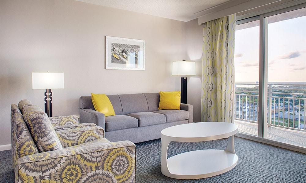 Club Wyndham Ocean Walk 1 Bedroom Suite Living