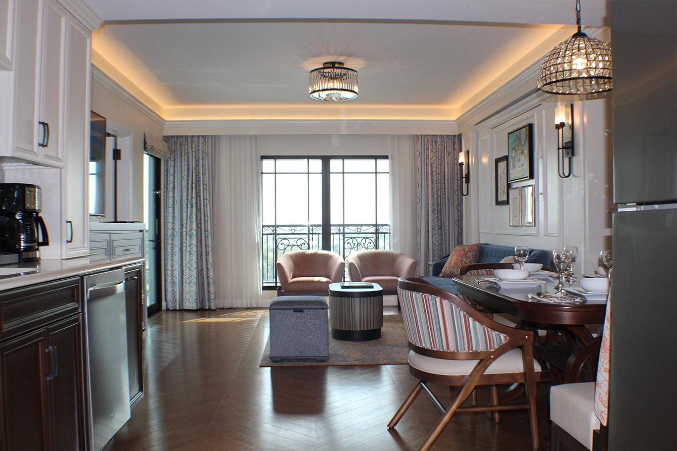Disney's Riviera Resort Living Area