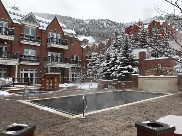 Hyatt Grand Aspen Pool during Winter