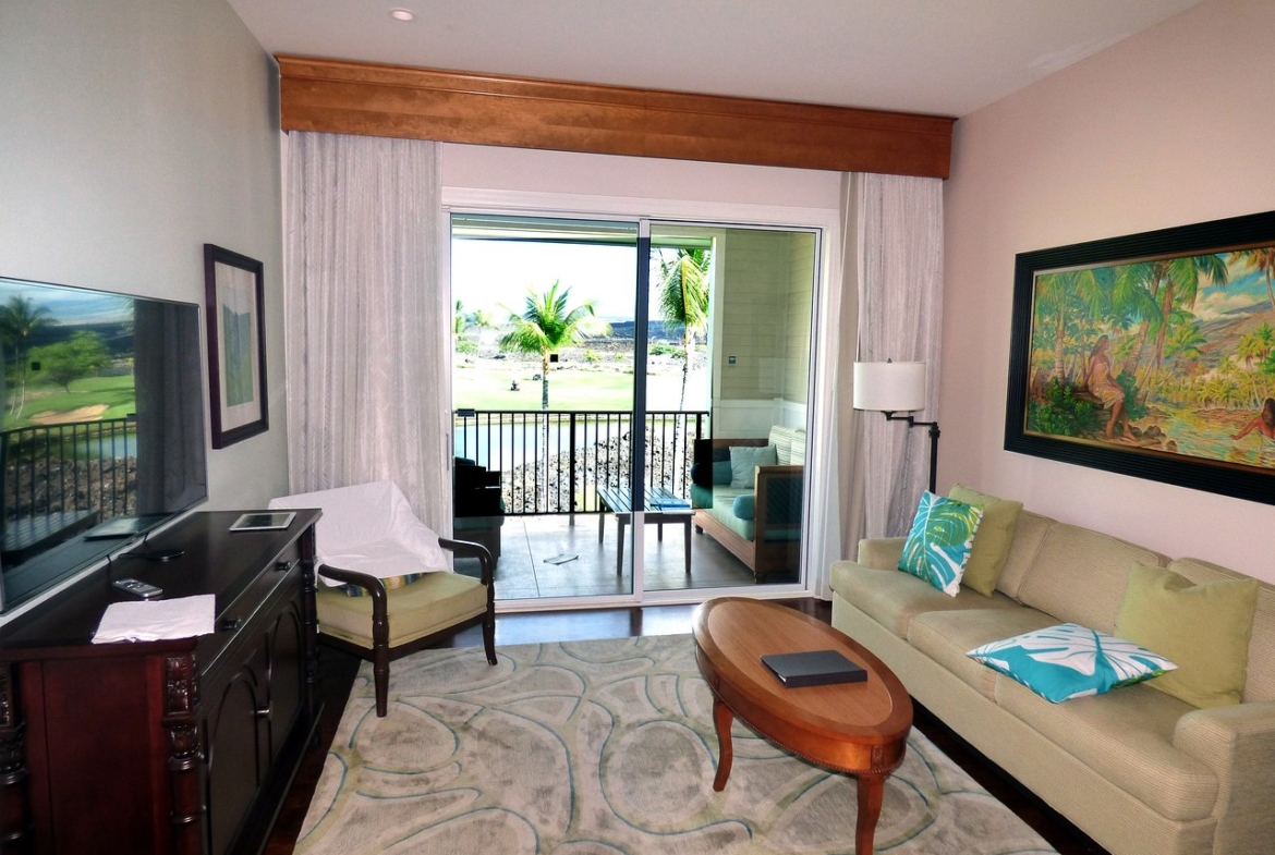 Kings' Land by Hilton Grand Vacations Living Room