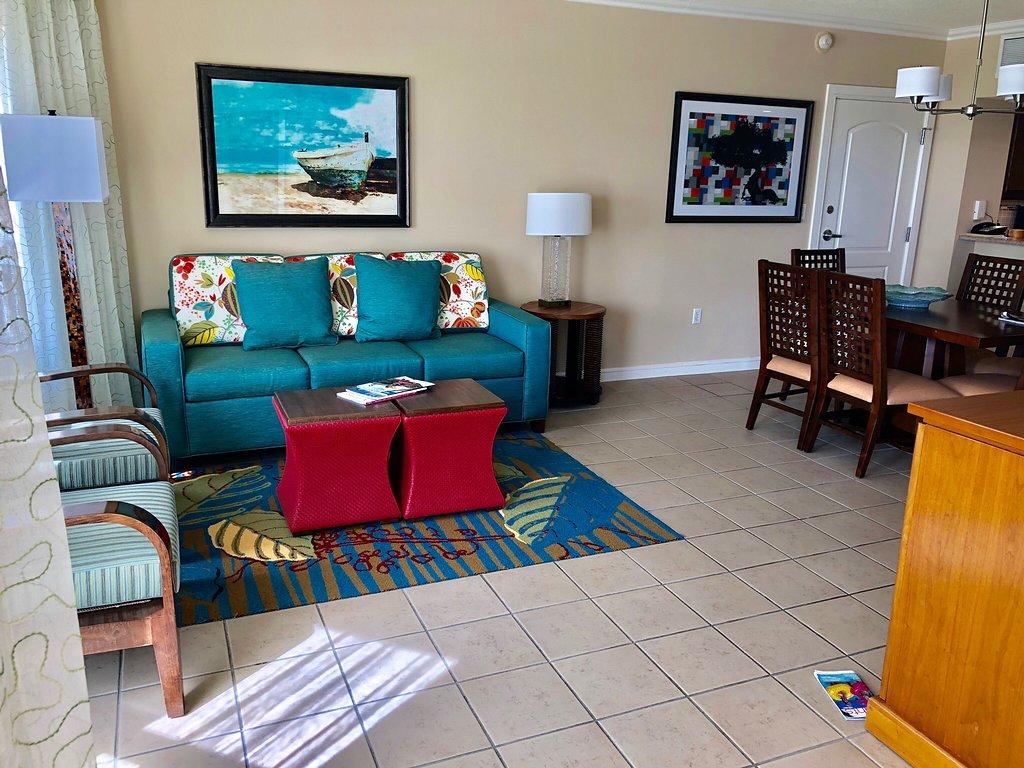 Marriott's Aruba Surf Club Living Area