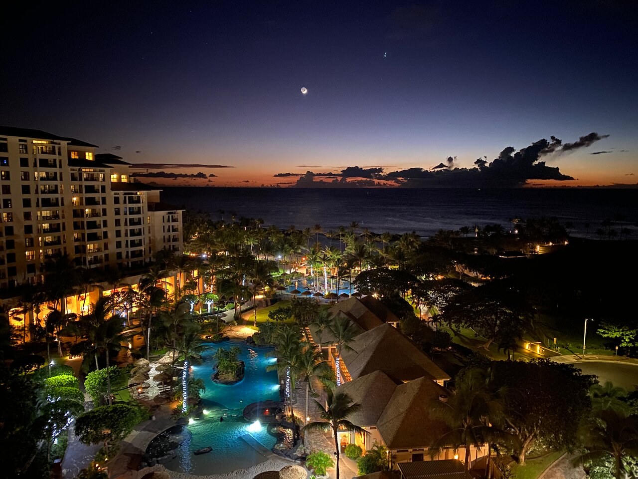 Marriott's Ko Olina Beach Club Night