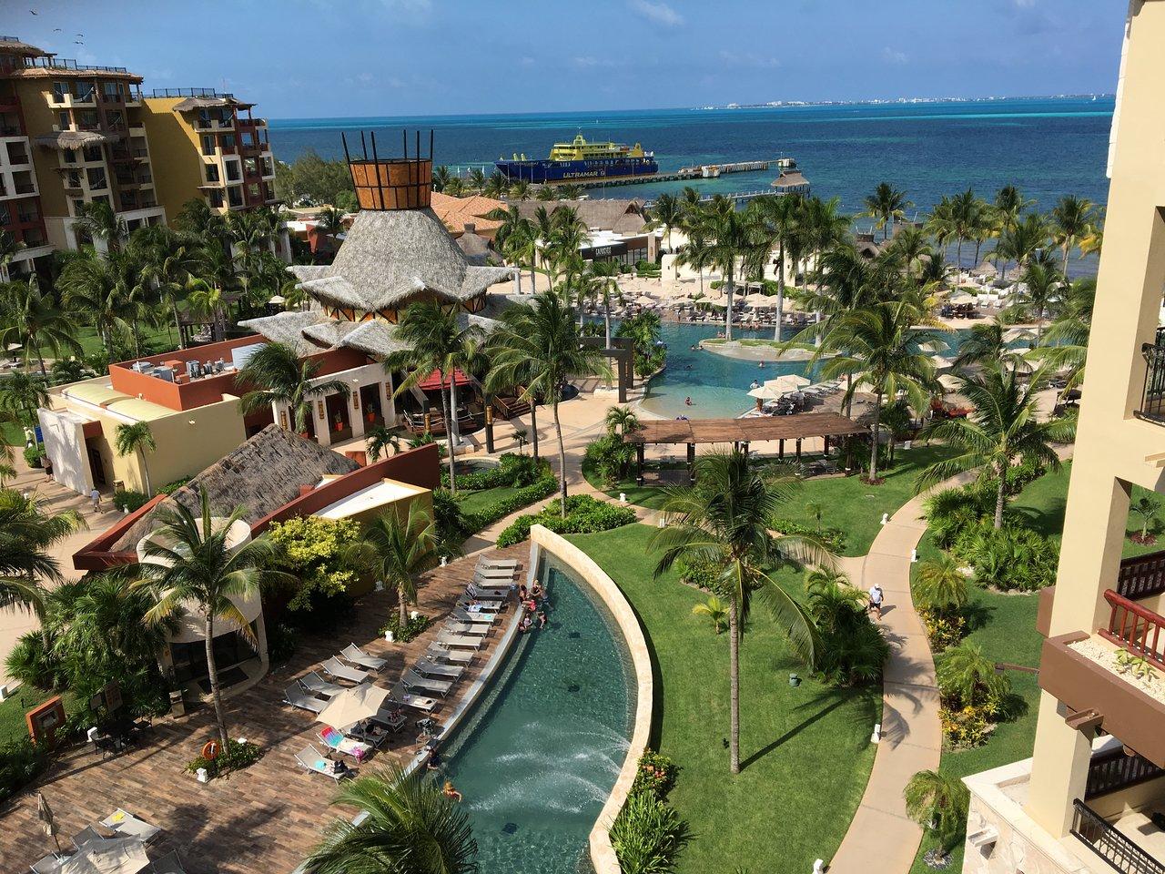 Villa Del Palmar Cancun Balcony View of Pool Area