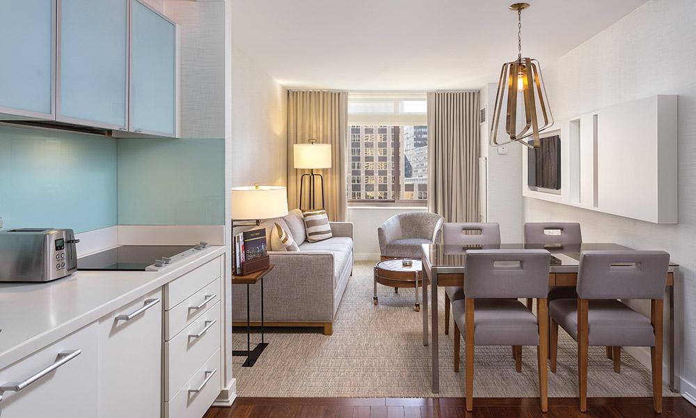 Wyndham Midtown 45 At New York City 1 Bedroom Deluxe Kitchen