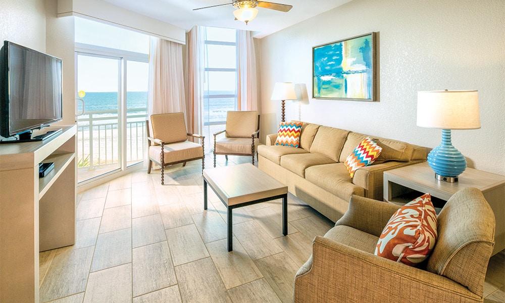 Club Wyndham Ocean Boulevard 1 Bedroom Deluxe Living