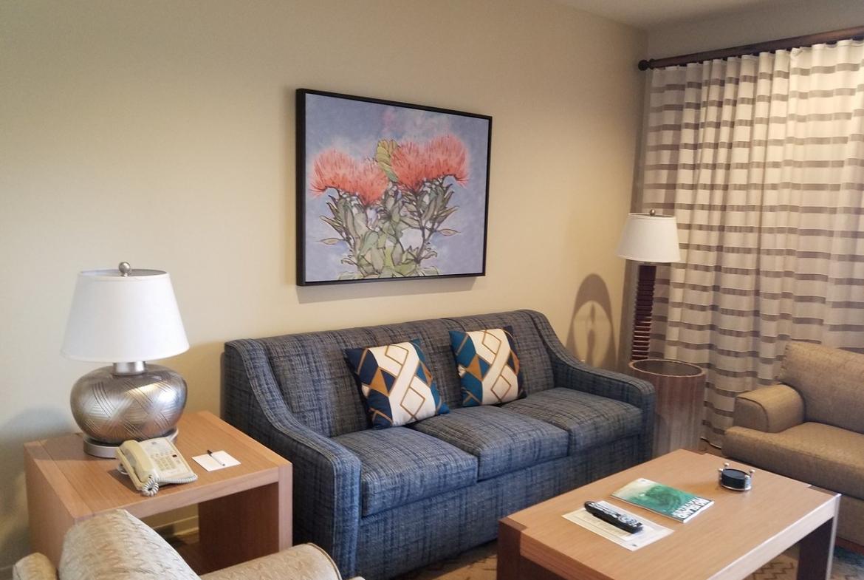 Kona Coast Resort Living Area