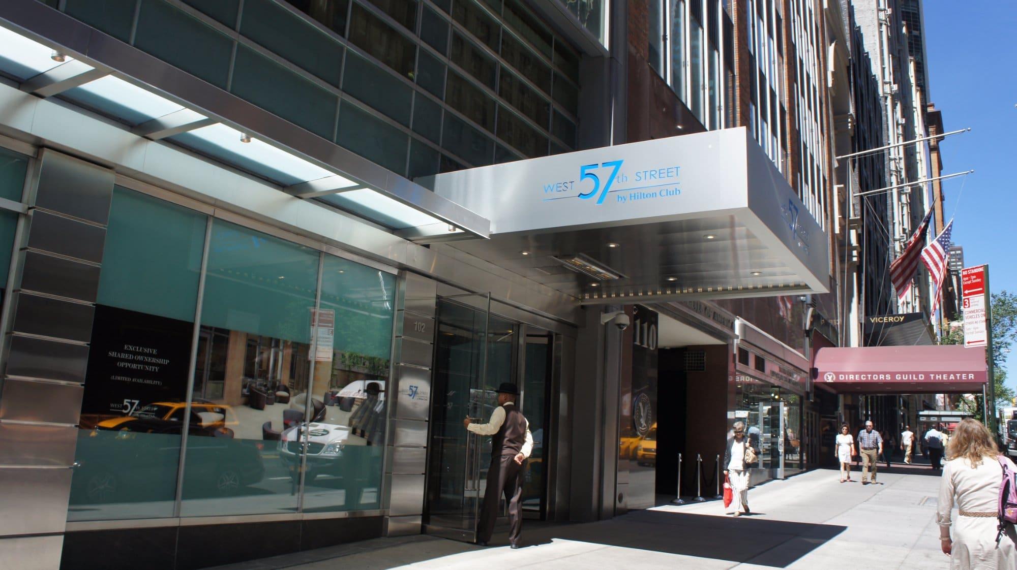 West 57th Street by Hilton Club Entrance